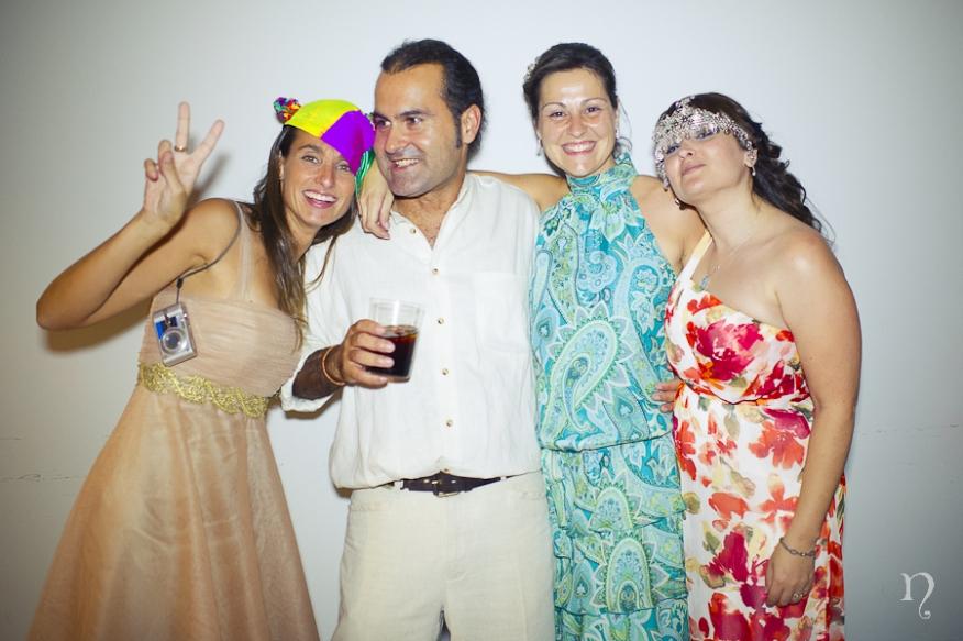 Photocall Photobooth divertido disfraz Noemie Artycam fotografia fotografos de boda en León
