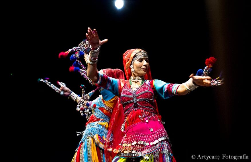 Danza Hindú Fakira Khan Rajasthani Folk Group Artycam Fotografía León