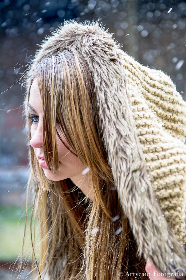 Yasmi Mina Magarea moda modelo Canfranc estación nieve Noemie Artycam fotografía león