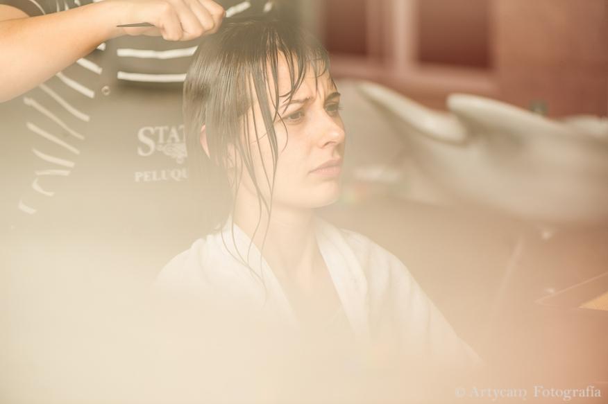 Artycam Fotografia peluquería novia lavar pelo
