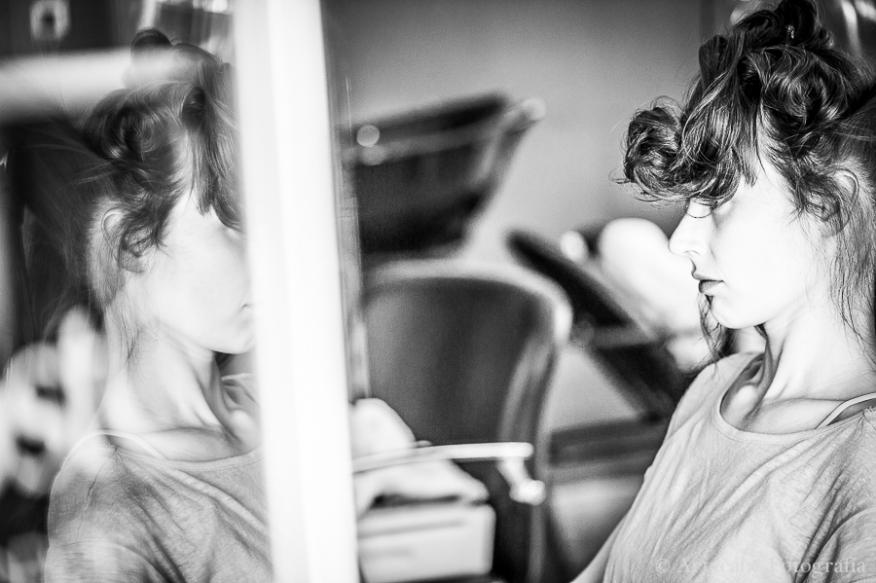 Artycam Fotografia peluquería novia blanco negro