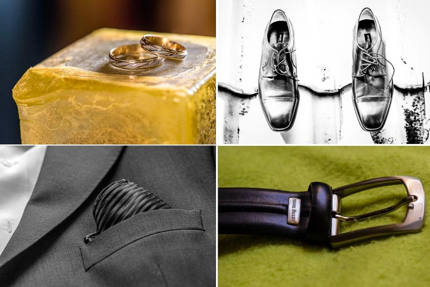 detalles novio boda alianzas vela zapatos corbata cinturón artycam fotografía Santander León