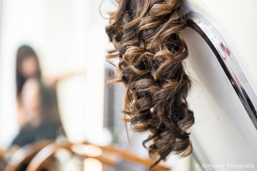 detalle tirabuzones novia peluquería fotoperiodismo Artycam fotografía artistica