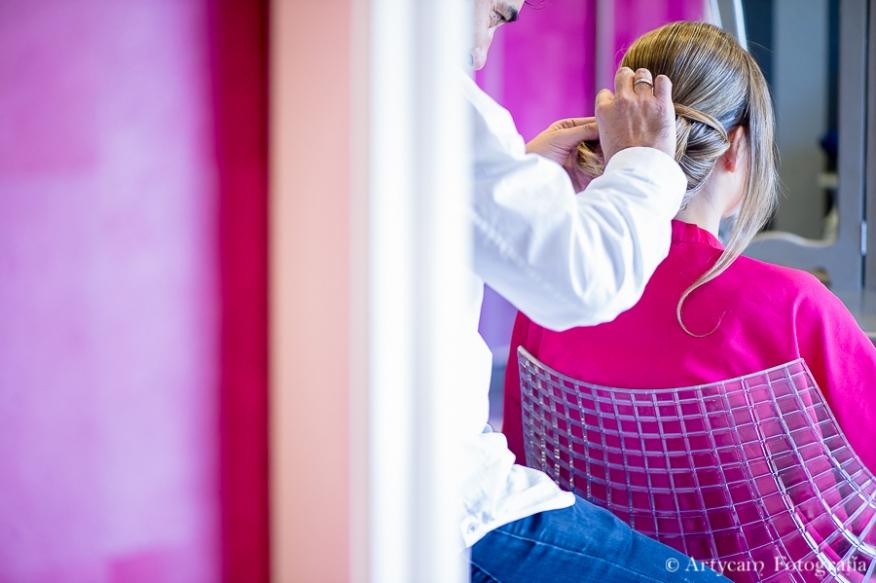 peinado novia rubia recogido Peluquería Nicolás Artycam fotografía